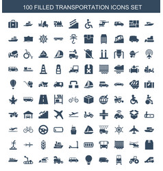 Transportation icons vector