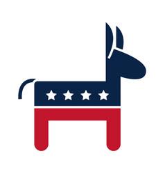 Us elections republican party donkey emblem vector