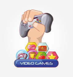 Video game control icons vector