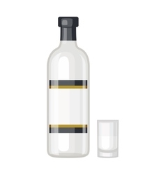 Vodka bottle vector image