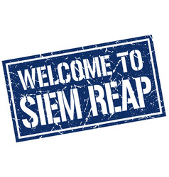welcome to siem reap stamp vector image