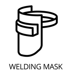 Welding mask icon outline style vector