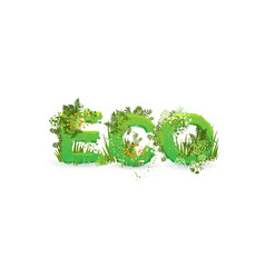 word eco with capital vector image