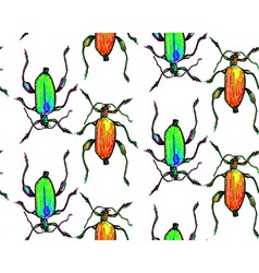 Bug pattern vector image vector image