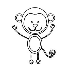 Figure teddy monkey icon vector