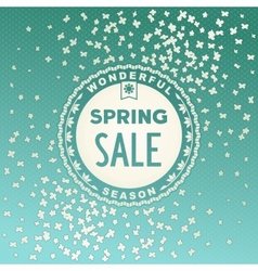 Spring SALE label design vector image