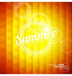 Abstract background on a summer holiday theme vector image