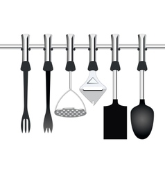 kitchen items related to cooking vector image vector image