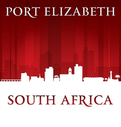 Port Elizabeth South Africa city skyline silhouett vector image vector image