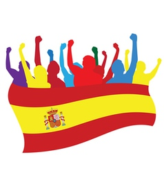 Spain fans vector image vector image