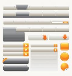 website design element |yellow vector image