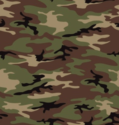 Woodland army camouflage seamless pattern vector image vector image