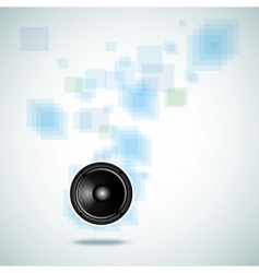 abstract background with speaker vector image