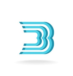 B letter logo template Parallel lines style vector image vector image