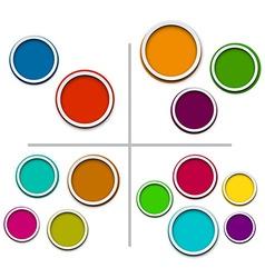 Color paper bubbles vector image