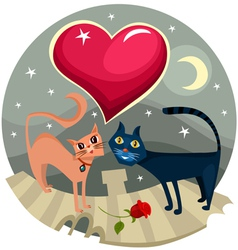 love cats vector image vector image