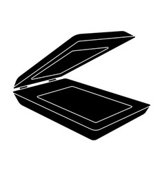 scanner icon in black style isolated on white vector image