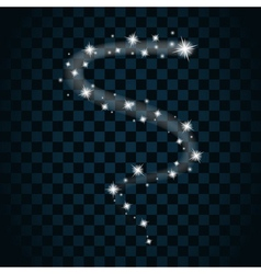 sparkle light star 8 vector image