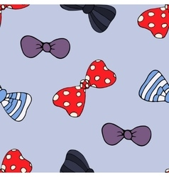 Cartoon seamless pattern with bow-tie vector image