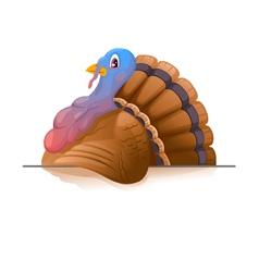 Cartoon Smiling Turkey vector image vector image