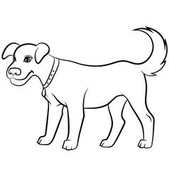 dog contour black vector image