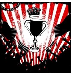 football trophy vector image vector image