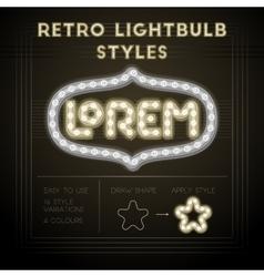 Retro lightbulb styles vector image vector image