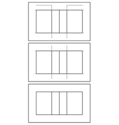 set of different volleyball court vector image