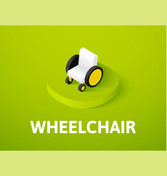wheelchair isometric icon isolated on color vector image