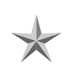 3d beveled star vector image