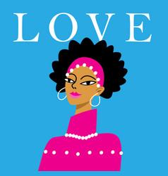 A beautiful portrait an african girl vector