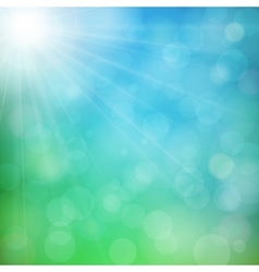 Abstract defocused nature background with bokeh vector image