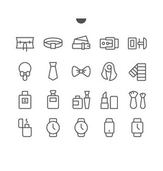accessories ui pixel perfect well-crafted vector image