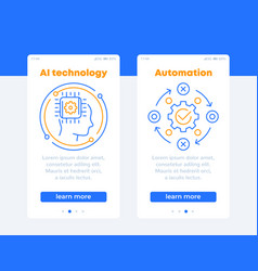 ai technology and automation banners for web vector image