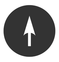Arrow Axis Y flat white and gray colors round vector