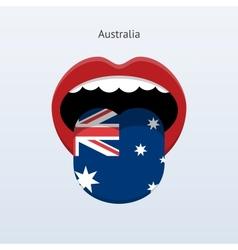 Australia language Abstract human tongue vector image