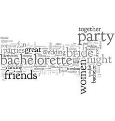 Bachelorette party ideas vector