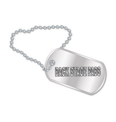 Back stage pass dog tag vector