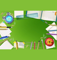 back to school stationery vector image