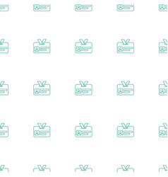 badge icon pattern seamless white background vector image