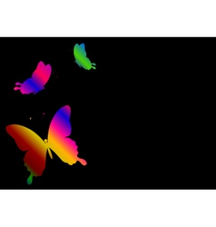 black background with a butterfly vector image