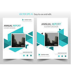 Blue abstract square annual report brochure vector