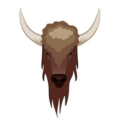 Buffalo in cartoon style vector