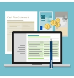 Cash flow statement accounting software money vector