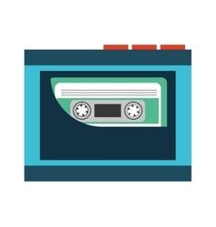 cassette music retro icon vector image vector image