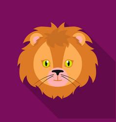 circus lion icon in flat style isolated on white vector image
