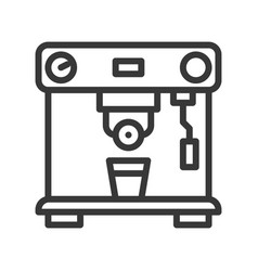Coffee machine coffee related line style vector