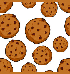 Cookies seamless pattern pastry background food vector