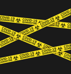 coronavirus quarantine yellow warning type vector image