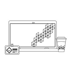 corporate visual identity vector image